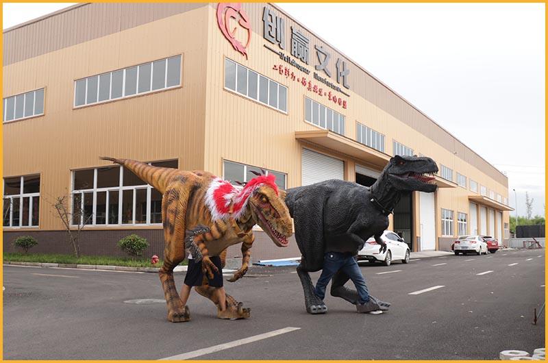 恐龙表演皮套